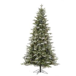 Frosted Balsam 7.5' Green Fir Artificial Christmas Tree with 750 LED Multi-Colored Lights