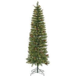 Salinas Pencil 7.5' Artificial Christmas Tree with 300 Clear Lights
