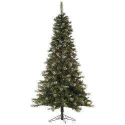 Iced Sonoma Pencil 7.5' Green Spruce Artificial Christmas Tree with Unlit