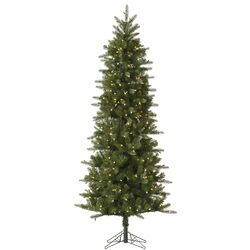Carolina Pencil 12' Green Spruce Artificial Christmas Tree with 800 Dura-Lit Clear Lights