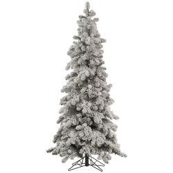 Flocked Kodiak 5' White Spruce Artificial Christmas Tree with Unlit