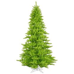 4.5' Lime Fir Artificial Christmas Tree with 250 Mini Single Colored Lights
