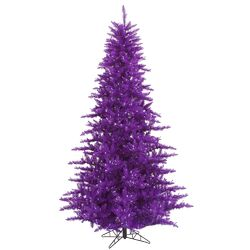 4.5' Purple Fir Artificial Christmas Tree with Unlit