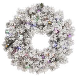Flocked Aspen Wreath