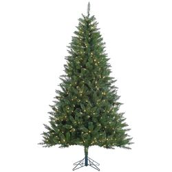 Kennedy 7.5' Green Fir Artificial Christmas Tree with 500 Dura-Lit Clear Lights with Stand