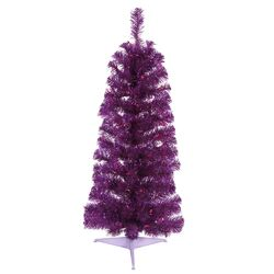 Colorful 2' Purple Artificial Christmas Tree with 35 Single Colored Lights