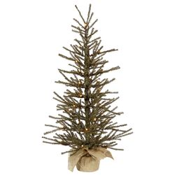 3' Green Artificial Christmas Tree with 50 Clear Lights