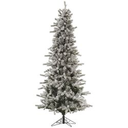 Flocked London Slim 7.5' White Artificial Christmas Tree