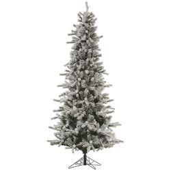 Flocked London Slim 7.5' White Artificial Christmas Tree