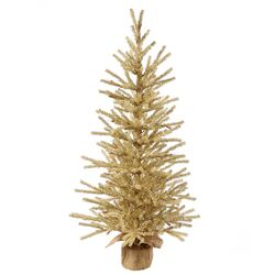 Champagne 1.5' Burlap Base Artificial Christmas Tree