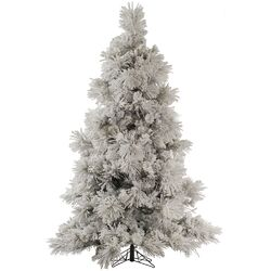 Flocked Pocono 7.5' White Pine Artificial Christmas Tree