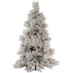 Flocked Pocono 7.5' White Pine Artificial Christmas Tree