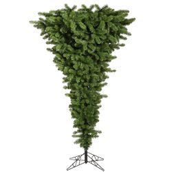 Upside Down 7.5' Green Artificial Christmas Tree