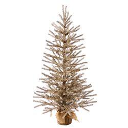3' Mocha Tree with Burlap Base Artificial Christmas Tree