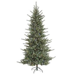 Colorado Spruce 4.5' Green Artificial Christmas Tree with 240 LED Multi-Colored Lights with Stand