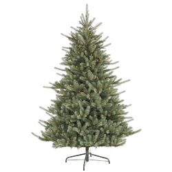 Colorado Spruce 7.5' Green Artificial Christmas Tree with 700 Dura-Lit Multi-Colored Lights ...