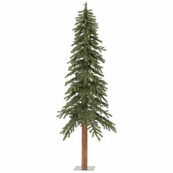 Natural Alpine 6' Green Artificial Christmas Tree with Unlit