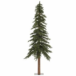 Natural Alpine 7' Green Artificial Christmas Tree with Unlit