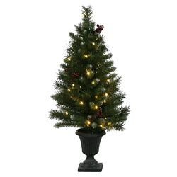 Ashberry 3' Green Artificial Christmas Tree with 40 LED White Lights