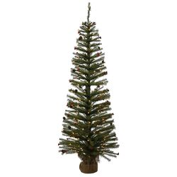 Fresh Pistol Berry 5' Pine Tree Artificial Christmas Tree with 150 Clear Lights