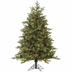 Rocky Mountain 10' Green Fir Artificial Christmas Tree with 1650 LED White Lights