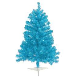 3' Sky Blue Tree Artificial Christmas Tree with 50 Single Colored Light