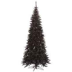 7.5' Black Fir Artificial Christmas Tree with Unlit