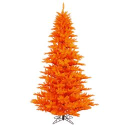 4.5' Orange Fir Artificial Christmas Tree with Unlit