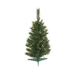 Imperial Pine 2.5' Green Artificial Christmas Tree with 50 Lights with Stand