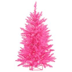 3' Hot Artificial Christmas Tree with 70 Mini Single Colored Lights with Stand