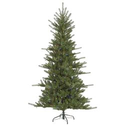 Slim Colorado Spruce 6.5' Green Artificial Christmas Tree with 480 LED Multi-Colored Lights ...