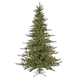 Timbercrest 8.5' Green Spruce Artificial Christmas Tree with 700 Clear Lights with Stand