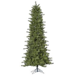 Ontario Slim 7.5' Green Spruce Artificial Christmas Tree with Stand