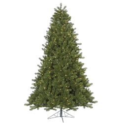 Ontario 12' Green Spruce Artificial Christmas Tree with 2000 Dura-Lit Clear Lights with Stand