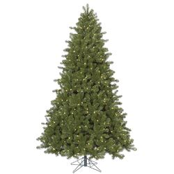 Ontario 12' Green Spruce Artificial Christmas Tree with 2000 LED White Lights with Stand