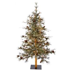 Dakota Alpine 5' Tree Artificial Christmas Tree with 100 Clear Lights