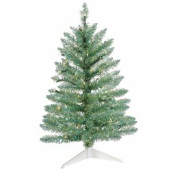 2.5' Turquoise Green Pine Artificial Christmas Tree