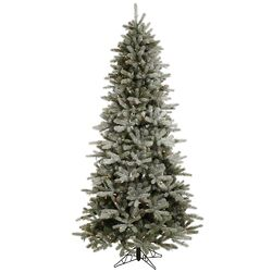 Frosted Frasier Fir 8.5' Green Artificial Christmas Tree with 550 Multicolored LED Lights with ...