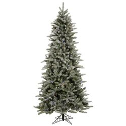Frosted Frasier Fir 7.5' Green Artificial Christmas Tree with 440 Multicolored LED Lights with ...