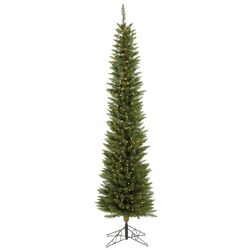 Durham Pole Pine 6.5' Green Artificial Christmas Tree with 180 LED Warm White Lights with ...