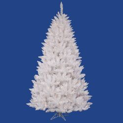 Crystal White Spruce 6.5' Artificial Christmas Tree with 330 LED Multicolored Lights with Stand