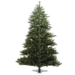 Minnesota Pine Westbrook 6.5' Green Artificial Half Christmas Tree with 400 Clear Lights with ...