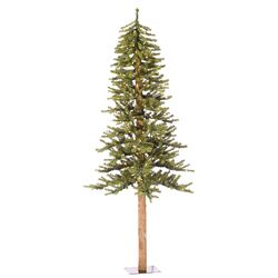 Natural Alpine 5' Green Artificial Christmas Tree with 150 Clear Lights with Stand