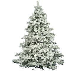 Flocked Alaskan 6.5' White Pine Artificial Christmas Tree with Stand