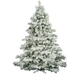 Flocked Alaskan 6.5' White Pine Artificial Christmas Tree