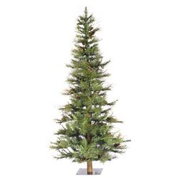 Ashland Wood Trunk Tree with Tips An 6' Green Fir Artificial Christmas Tree with Unlit ...