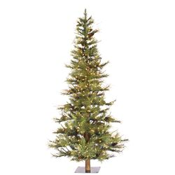 Ashland Fir 4' Green Fir Artificial Christmas Tree with 200 Clear Lights