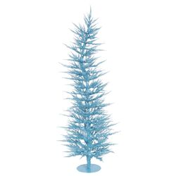 Colorful Laser 6' Sky Blue Artificial Christmas Tree with 150 Lights