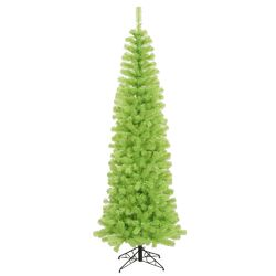 Chartreuse Pencil 4.5' Green Artificial Christmas Tree with 150 Green Lights