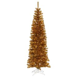 Colorful 4' Ant Gold Artificial Christmas Tree with 150 Clear Lights